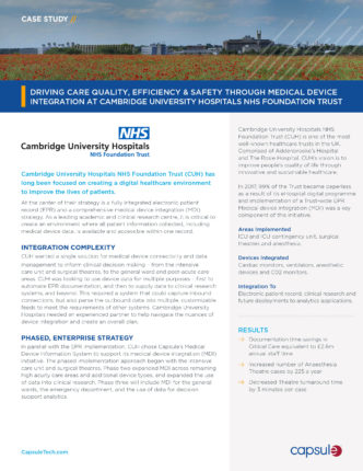 case study cambridge university hospitals