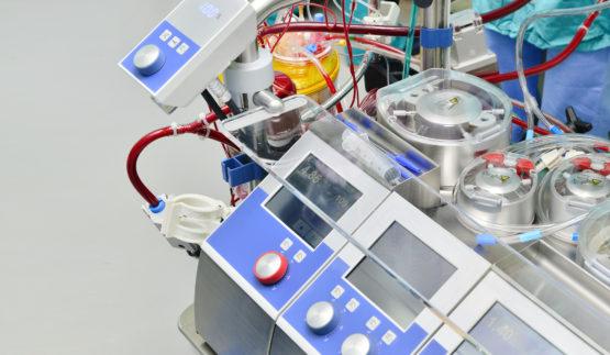 Heart lung machine for open heart surgery